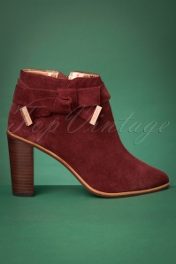 Ted Baker 70s Anaedi Suede Booties in Burnt Berry