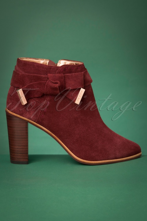 Ted Baker 29639 Anaedi Burnt Red Bootie 20190816 004W