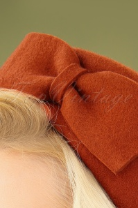 Collectif 30478 Nadine Wool Hat Burnt Orange 040M W2