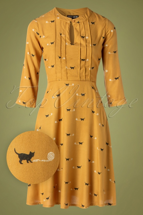 Pretty Vacant 29334 Marcie Dress Cat Bal Yellow20190816 011W1