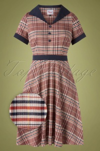 Banned Retro 50s The Classic Swing Dress in Multicheck