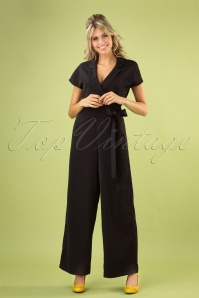 Party Time Jumpsuit Années 50 en Noir