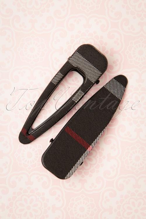 Darling Divine 31364 Hairclip Black Stripes 190814 003W