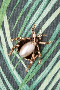 Darling Divine 31359 Brouche Bug Gold Crystal Pearl 190814 003W