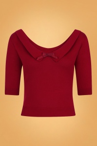 Collectif Clothing Babette Jumper Années 50 en Rouge