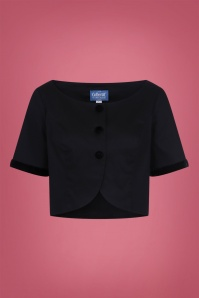 Collectif Clothing 50s Dale Jacket in Black