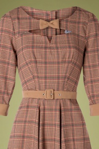 Miss Candyfloss 31018 Swingdress Brown Tartan 07172019 000002V