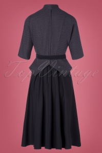 Miss Candyfloss 31037 Swingdress Black Navy 07112019 000009W