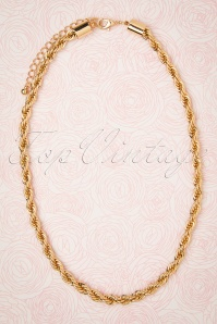 50s Gold Rush Chunky Necklace in Gold