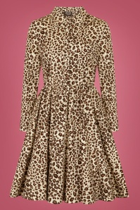 Hearts Roses 31132 Animal Print Swing Dress 20190816 020LW
