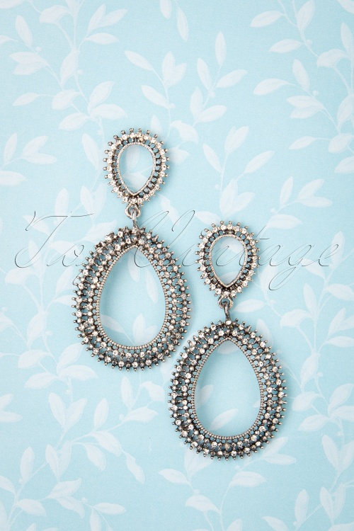 Darling Divine 31337 Earrings Silver Crystal Oriental 190814 002 W