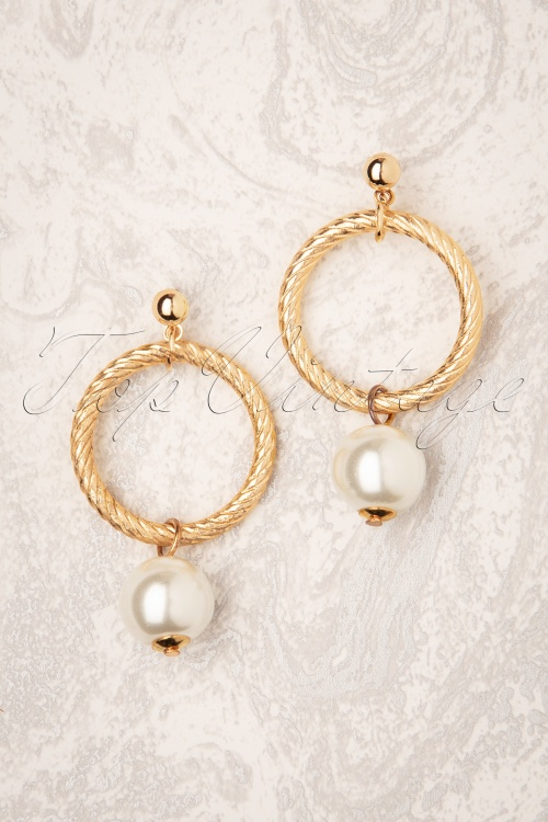 Darling Divine 31334 Earrings Gold Pearl Ring 190814 002W