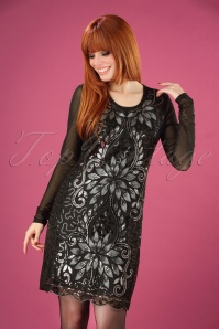 Banned Retro Lillian Sequin Dress Années 20 en Noir