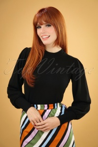 60s Gillian Jumper in Black