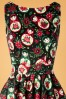 Lady V 30855 Swingdress Tea Black Doll Flowers 190821 003V