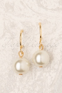 All About The Pearl Earrings Années 50 en Doré
