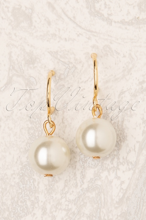 Darling Divine 31333 Earrings Gold Pearl Ring 190814 002W