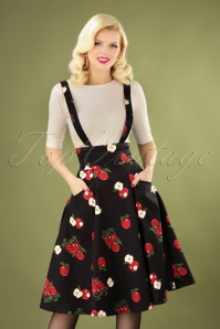 50s Alexa Apple Swing Skirt in Black