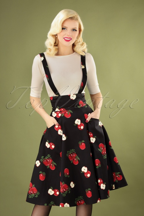 Collectif 29812 Swingskirt Black Apple 20190716 040MV