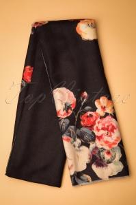 Amici 30363 Scarf Manuela Black Floral 190812 005 W