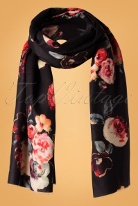 50s Manuela Scarf in Black