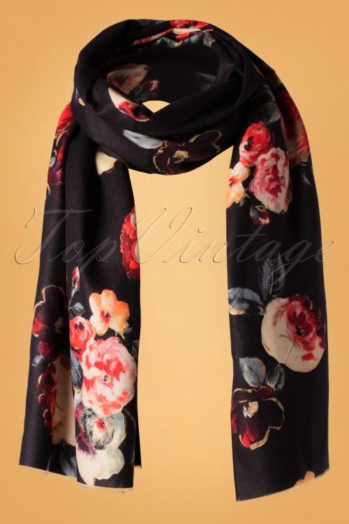 Amici 30363 Scarf Manuela Black Floral 190812 004W