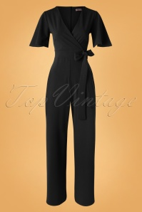 Vintage Chic 31154 Jumpsuit Black 190821 005W