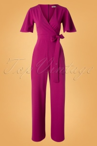 Vintage Chic for TopVintage 50s Vina Jumpsuit in Amaranth