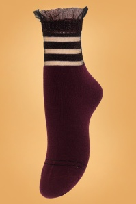 Sneaky Fox 70s Fritz Fig Socks in Aubergine