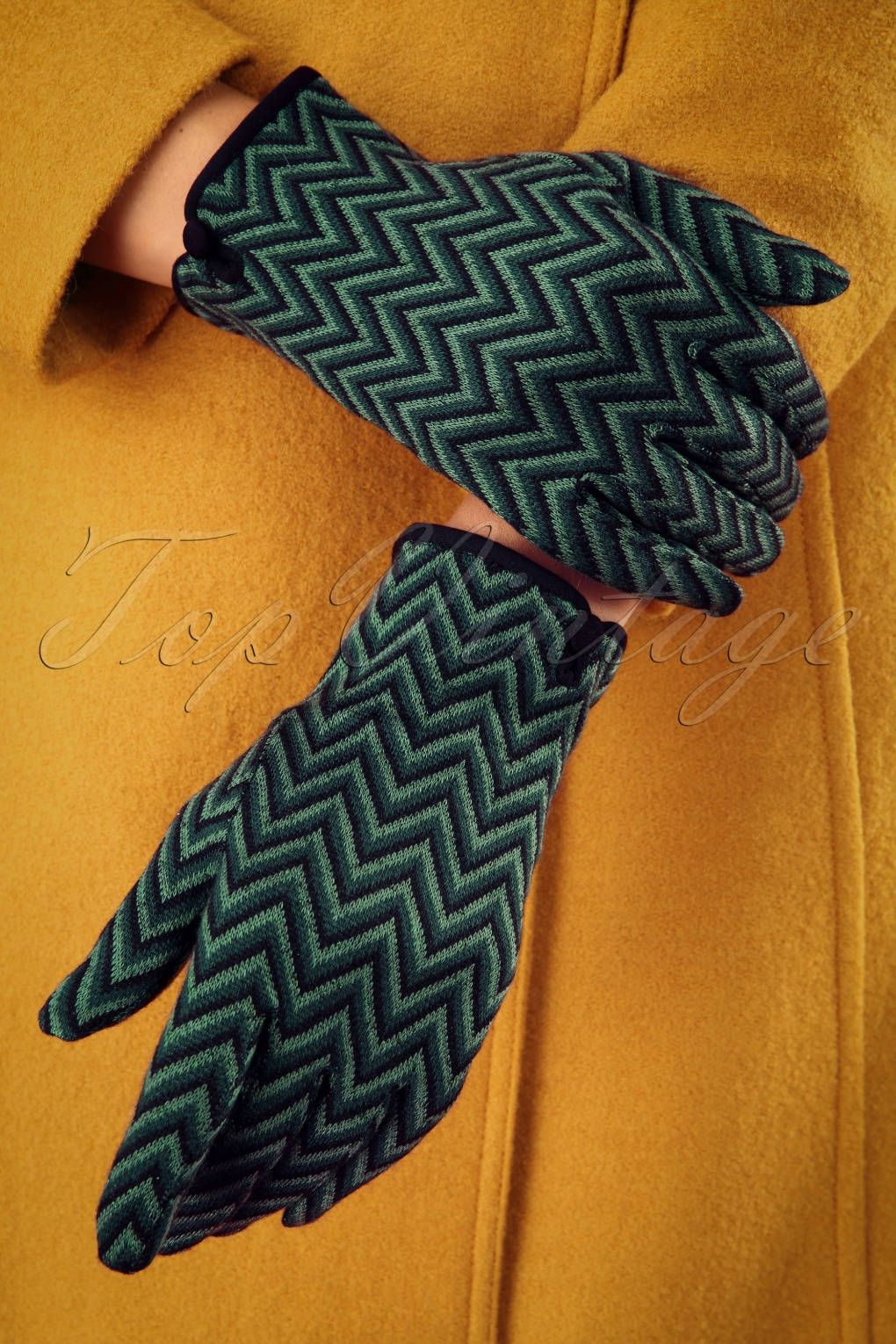 Vintage Inspired Dresses & Clothing UK 60s Indra Gloves in Pine Green £17.78 AT vintagedancer.com