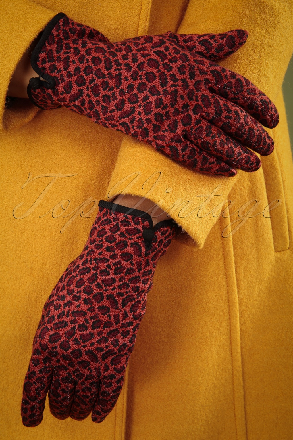 Vintage Style Gloves- Long, Wrist, Evening, Day, Leather, Lace 60s Africa Gloves in Apple Red £17.46 AT vintagedancer.com