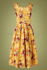 Lady V 30856 Swingdress Belle Yellow Floral 082119 008W