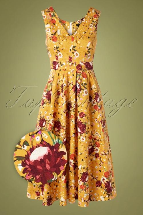 Lady V 30856 Swingdress Belle Yellow Floral 082119 001Z