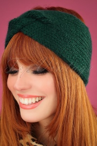 60s Jules Headband in Pine Green