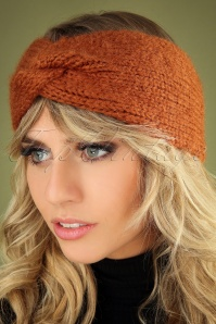 60s Jules Headband in Spicy Brown