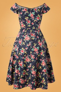 Lady V 30858 Swingdress Josie Blue Floral 082119 008W