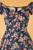Lady V 30858 Swingdress Josie Blue Floral 082119 002V