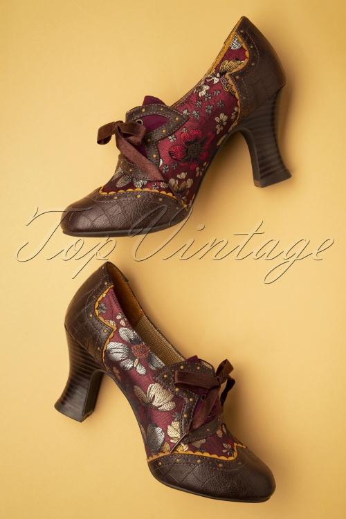 Ruby Shoo Daisy Russet Womens Heels Shoes