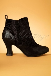 Ruby Shoo 40s Antoinette Velvet Booties in Black