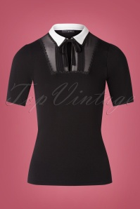 Vive Maria 60s French Chic Shirt in Black