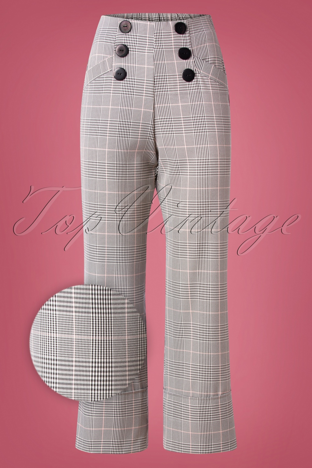 1960s Style Dresses, Clothing, Shoes UK 60s Marlene At Sea Trousers in Black and White £78.72 AT vintagedancer.com