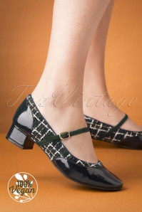 60s Jolene Tweed Pumps in Navy