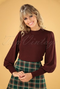 60s Gillian Jumper in Burgundy