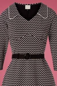 Mademoiselle Yeye 29576 Vintage moment Dress Black White 20190725 003V