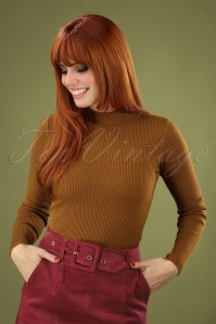 60s Jessica Turtleneck Jumper in Caramel