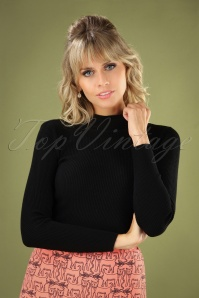 60s Jessica Turtleneck Jumper in Black