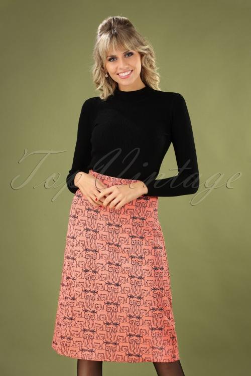 Compania Fantastica 29711 Falda Skirt Cats Orange 20190805 040MW