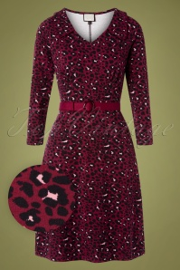 Mademoiselle Yeye 29577 Vintage moment Dress Red Leopard 20190725 002W1