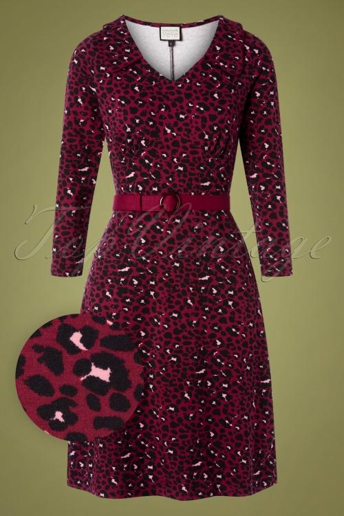 Mademoiselle Yeye 29577 Vintage moment Dress Red Leopard 20190725 002W1