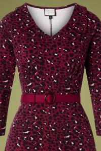Mademoiselle Yeye 29577 Vintage moment Dress Red Leopard 20190725 002V